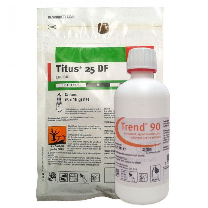 Erbicid Titus 25 DF + Adjuvant Trend 90